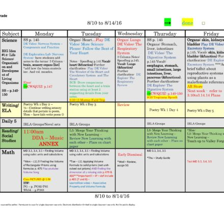 Th Eleventh Or Th Twelfth Grade Lesson Plan Template One Week - Single subject lesson plan template