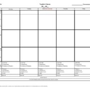 Best Photos Of Florida Lesson Plan Template Preschool Blank - Lesson plan template florida